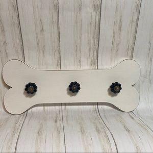 Wooden Dog Bone Leash Rack Wall Hanger